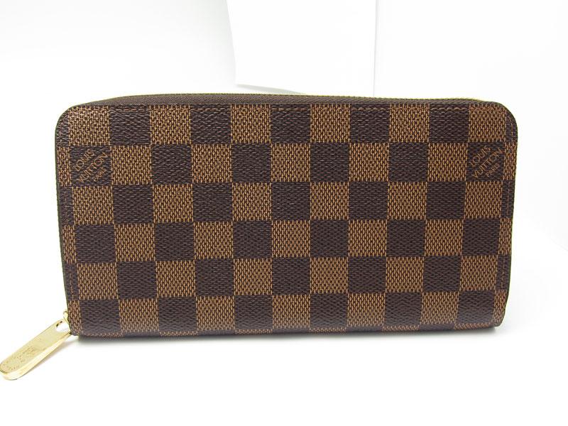 [写真]ルイヴィトンのダミエ ジッピーウォレット 長財布 N60015 製造番号の場所