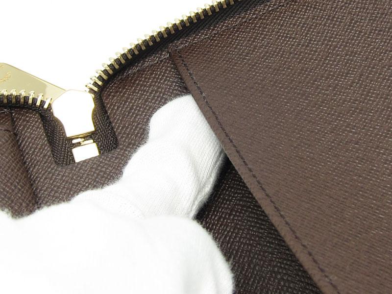 [写真]ルイヴィトンのダミエ ジッピーオーガナイザー 長財布 N60003 製造番号の場所