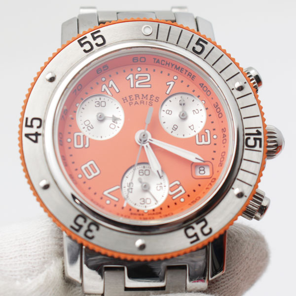 the latest 215db 091a4 エルメス クリッパー ダイバークロノグラフ 腕時計 レディース ...